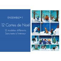 Ensemble #1 - 12 modèles de Cartes de Noël