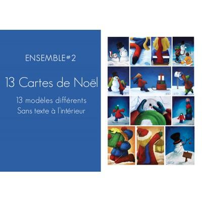Ensemble #2 - 13 modèles de cartes de Noël