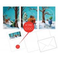 Ensemble de 36 cartes de Noël PERSONNALISÉES