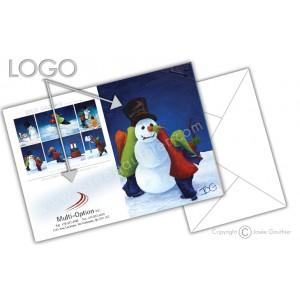 Cartes de Noël ( ajoutez VOTRE LOGO)